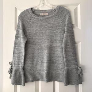 NWOT LOFT Bow Flare Sleeve Sweater